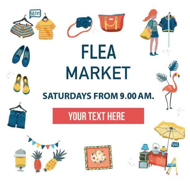 Best Flea Market Illustrations, Royalty.