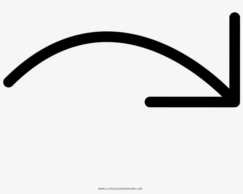 Right Curve Arrow Coloring Page.