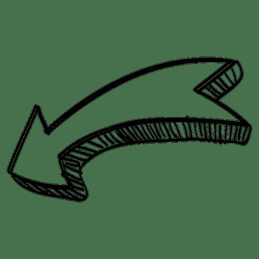 Flecha curva cinta.