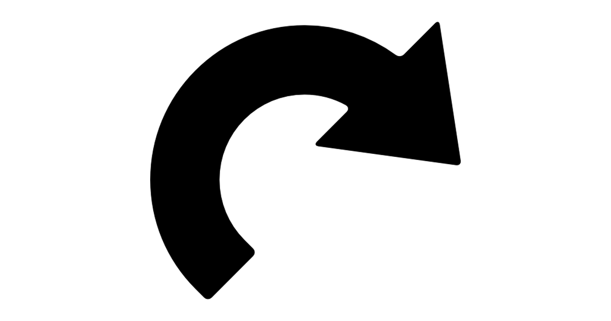 flecha curva.