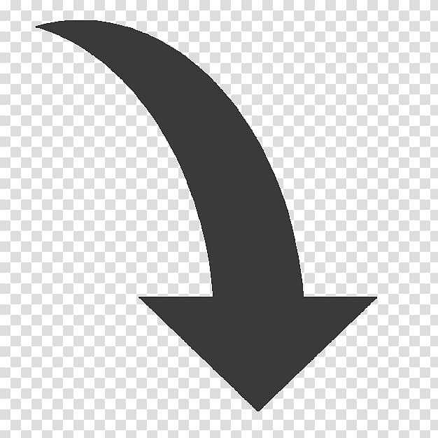 Curved arrow down illustration, Curve Computer Icons Arrow.