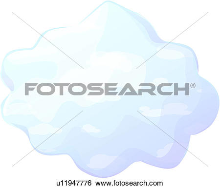 Clip Art of weather, cumulus, cloud, natural phenomenon, fleecy.