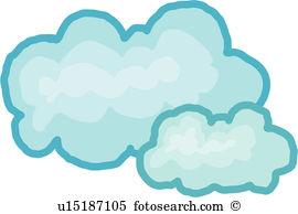 Fleecy cloud Clipart and Illustration. 10 fleecy cloud clip art.