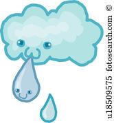 Fleecy cloud Clipart and Illustration. 10 fleecy cloud clip art.