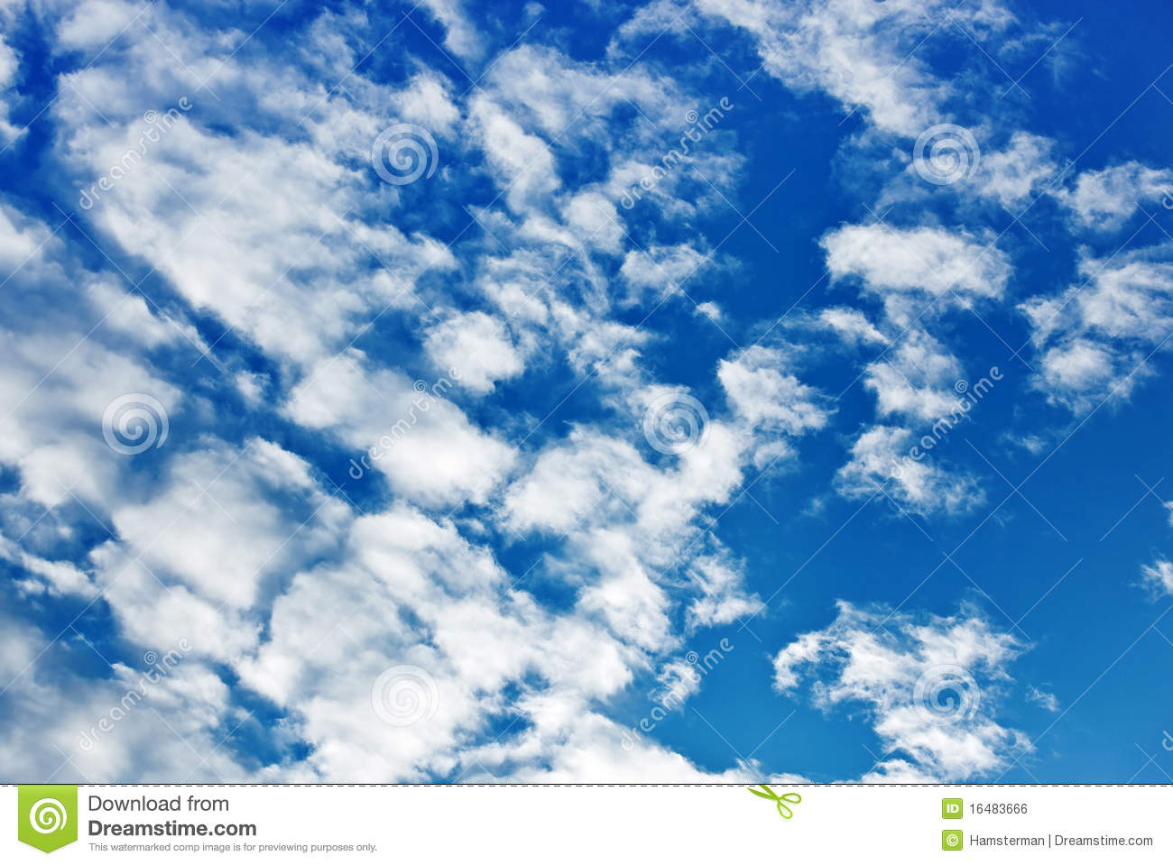 Fleecy Clouds Royalty Free Stock Image.
