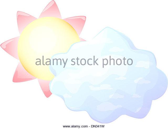 Cumulus Sun Fleecy Cloud Hiding Stock Photos & Cumulus Sun Fleecy.