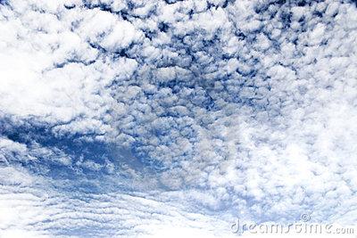 Fleecy Cloud Stock Photo.
