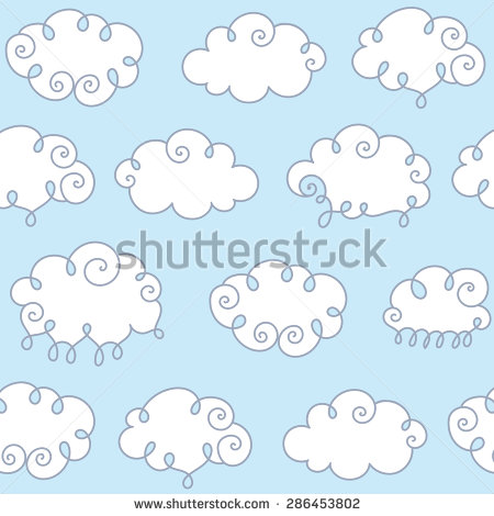 Fleecy Cloud Stock Vectors & Vector Clip Art.