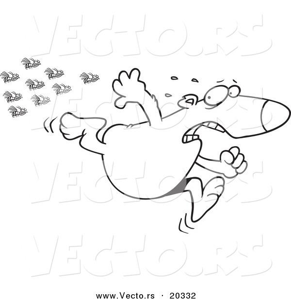 Fleeing clipart #12