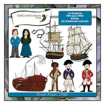 First Fleet Clipart by Oz Curriculum HQ.