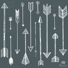 pretty vintage arrow clipart.