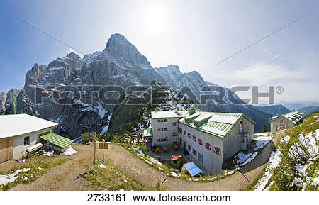 Stock Photography of Buildings on mountain, Stripsenjochhaus.