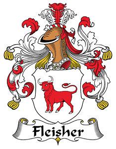 Fleisher Coat Of Arms German Digital Art by Heraldry.