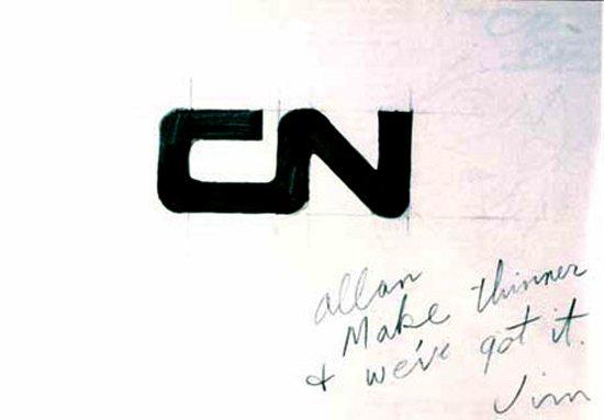 CN Logo Designed by Allan Fleming & CN Brand Guidelines.