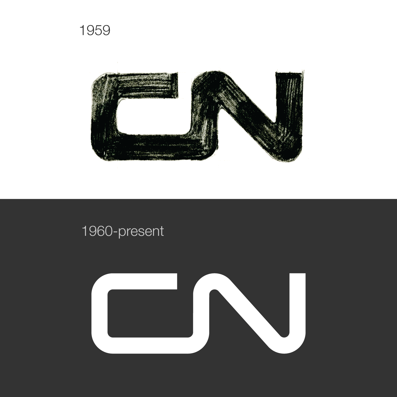 CN logo concept by Allan Fleming (1959).