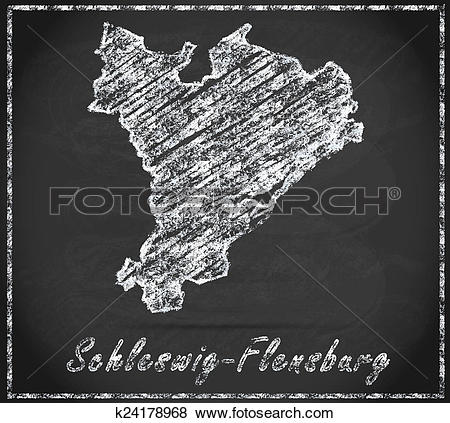 Stock Illustration of Map of Schleswig.