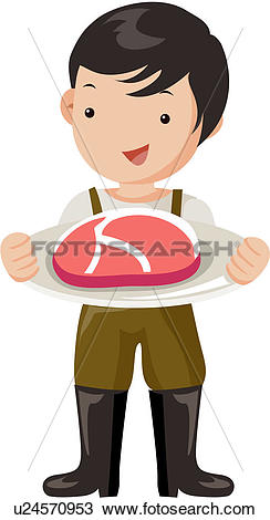 Clipart of meat, grown.
