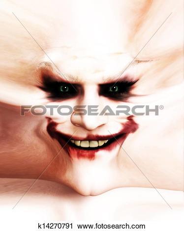 Clipart of The Smile Of Clown Flesh k14270791.