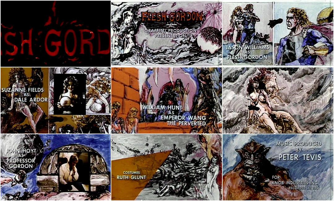 Flesh Gordon (1974) — Art of the Title.
