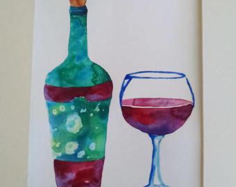 Wine painting.