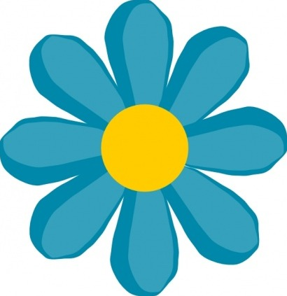 Fleur bleue clipart.