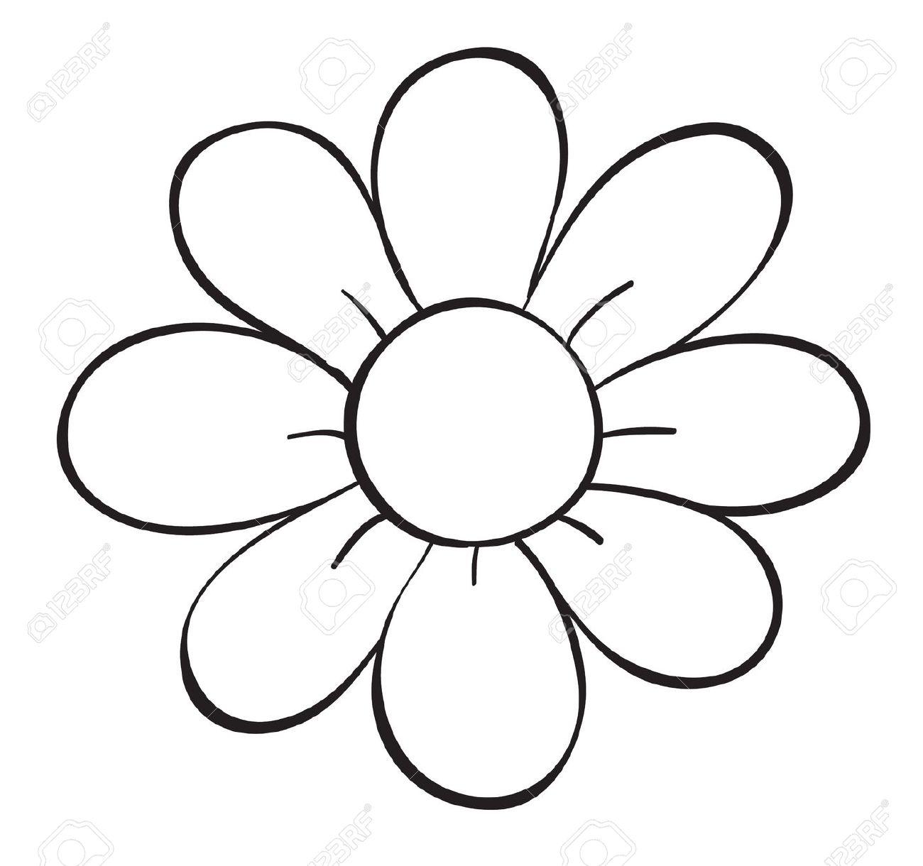 Clipart noir et blanc fleurs.