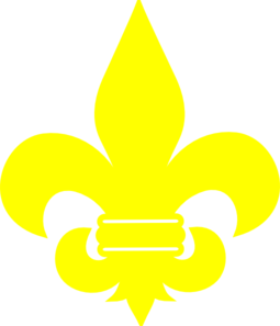 Yellow Fleur De Lis Clip Art at Clker.com.