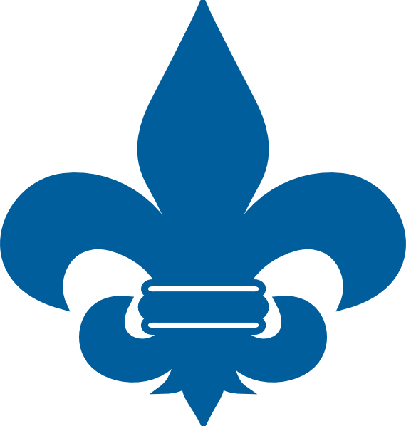 Cub Scout Blue Fleur De Lis clip art.