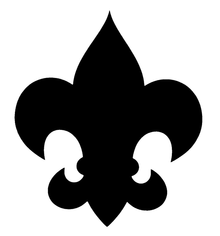 Black and white clipart boyscouts logo.