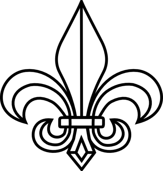 Fleur de lis boy scout clipart transparent clipartfest.