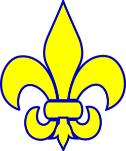 cub scout fleur de lis clip art.