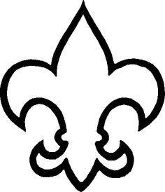 fleur de lis boy scout clipart opaque #17