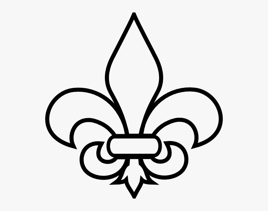 Fleur De Lis Simplified Clip Art.