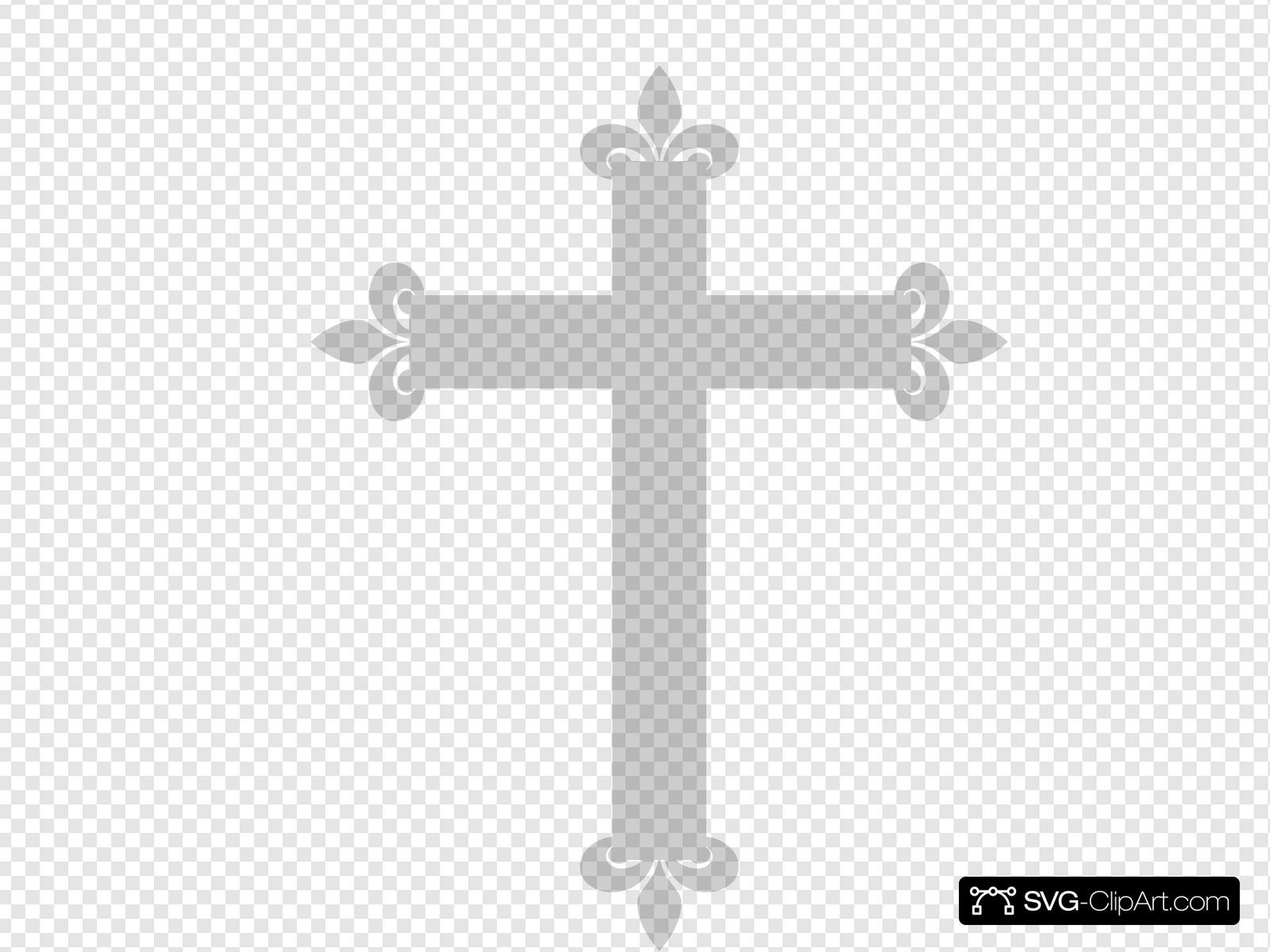 Fleur De Lis Cross Clip art, Icon and SVG.
