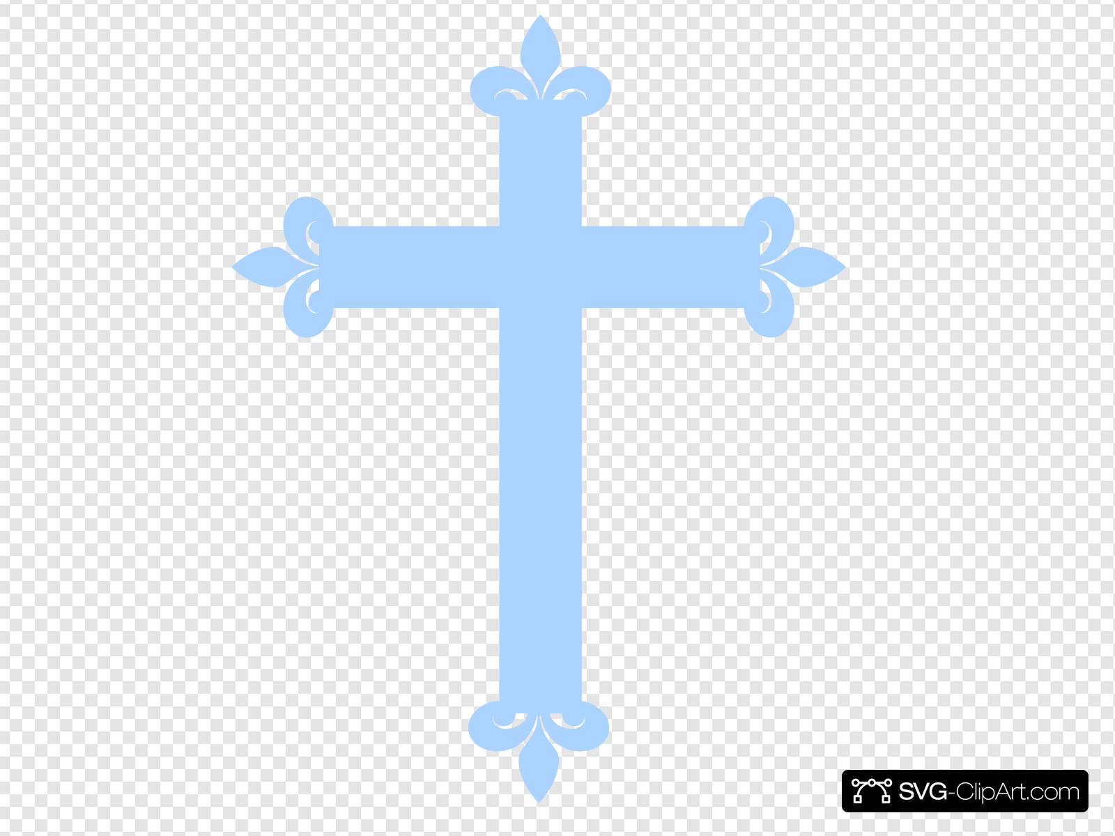 Fleur De Lis Cross.