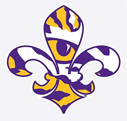 Amazon.com: LSU Tigers TIGER EYE FLEUR DE LIS Logo 4\