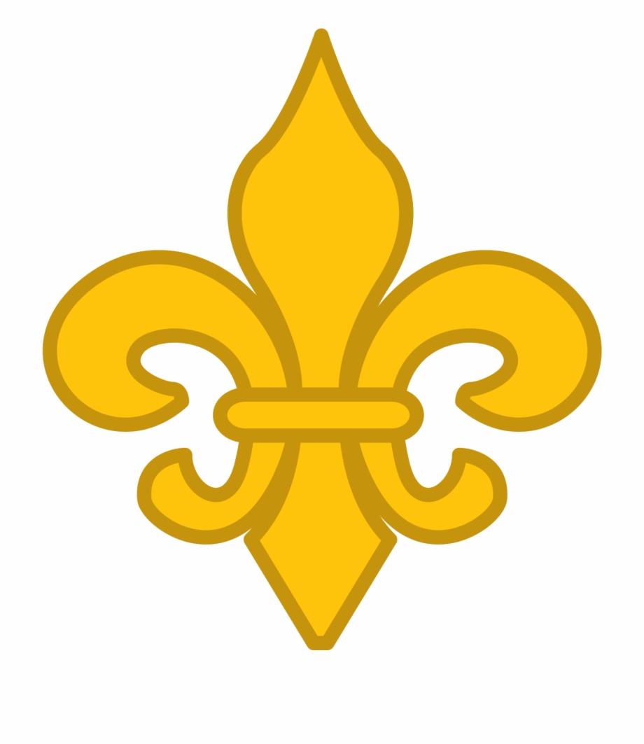 Gold Fleur De Lis Vector Clip Art.