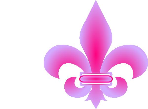 Pink Fleur De Lis Clip Art at Clker.com.