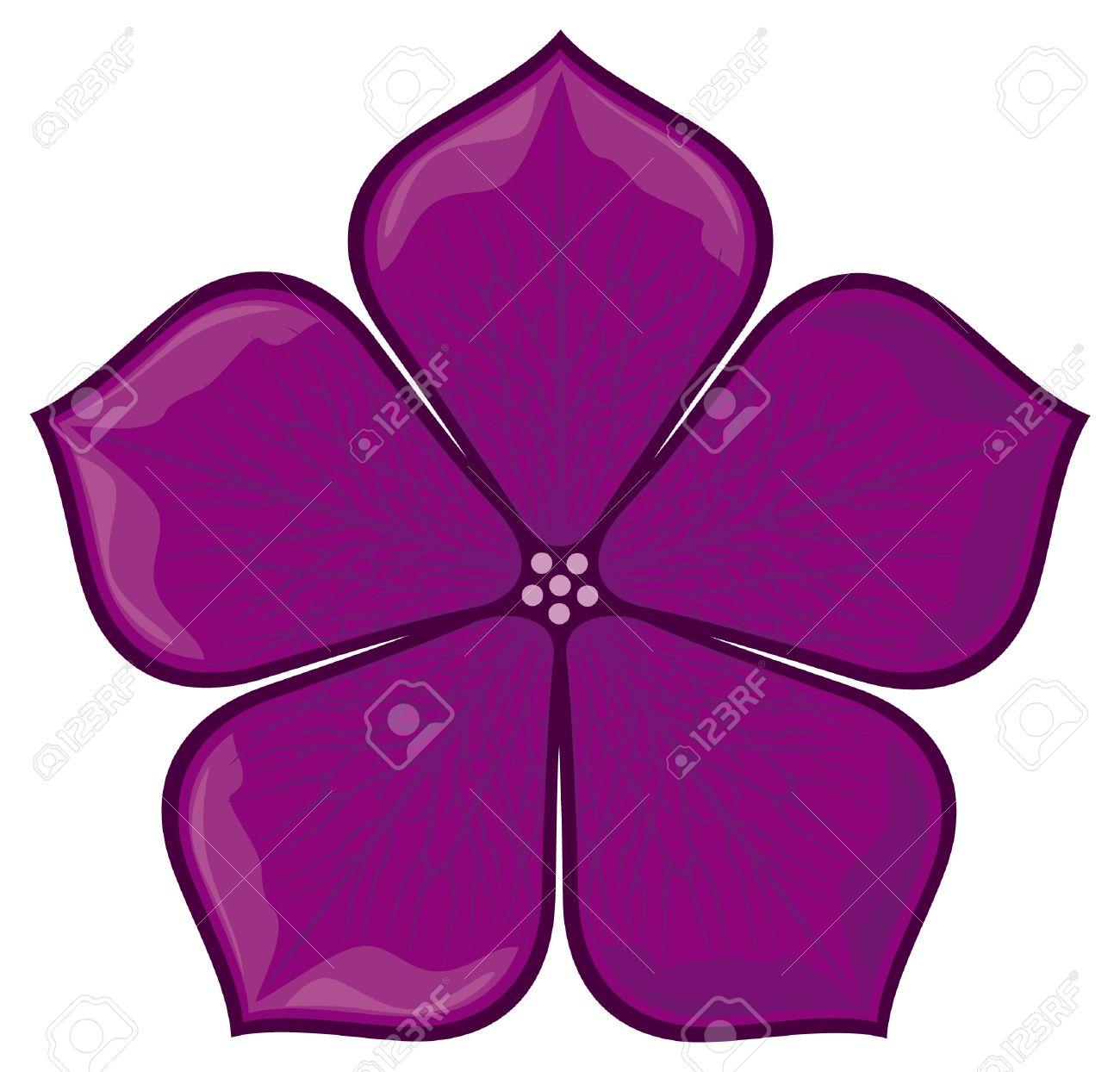 Fleur Violette Clip Art Libres De Droits , Vecteurs Et.