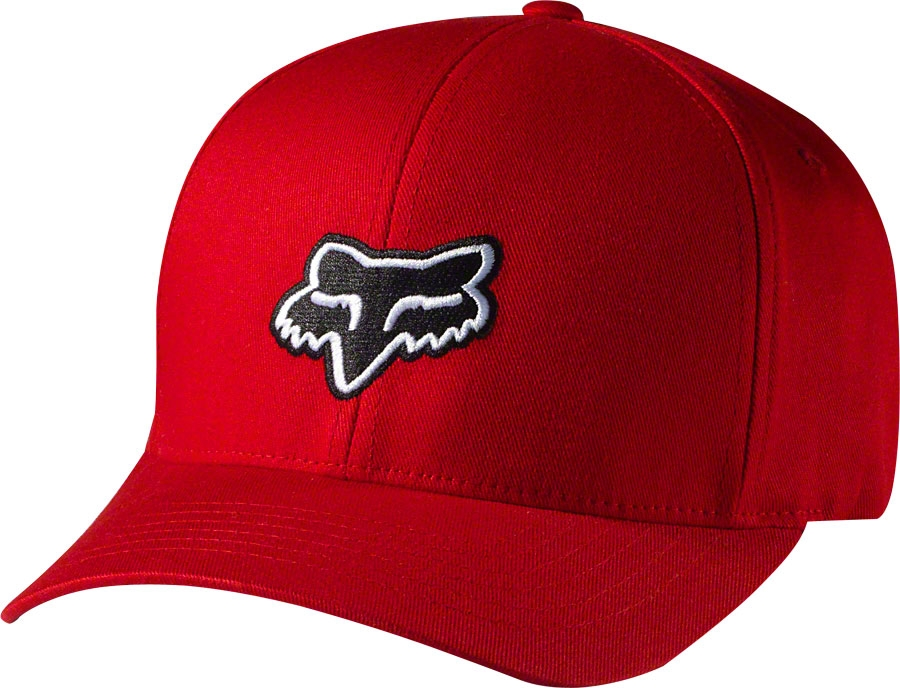 Fox Racing Legacy Flexfit Hat: Red.