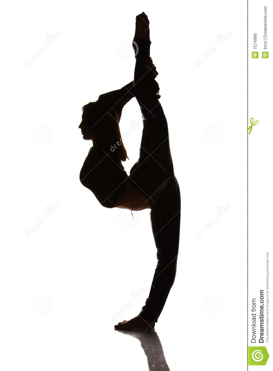 Flexible person clipart.
