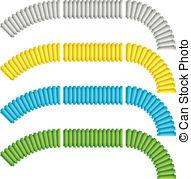 Flexible tube Vector Clip Art EPS Images. 146 Flexible tube.