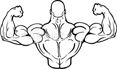 Flexing Clipart.