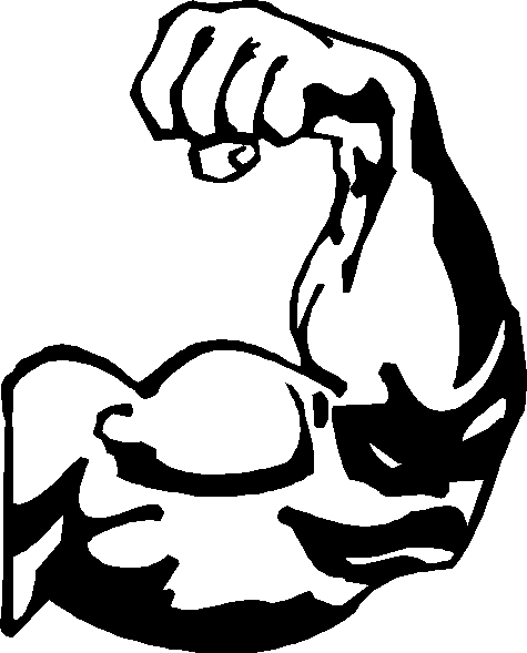 Bicep Flexing Clipart.