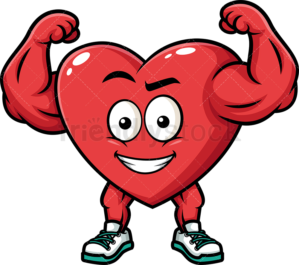 Strong Heart Flexing Muscles.