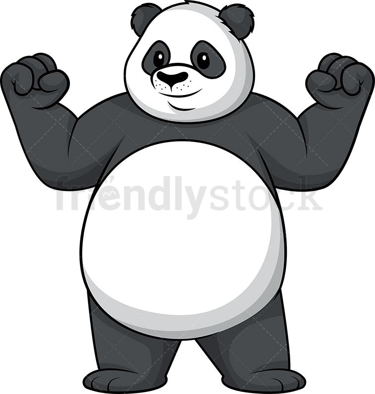 Panda Flexing Muscles.