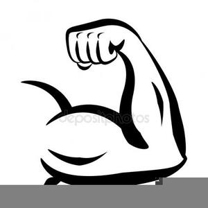 Flexing Biceps Clipart.