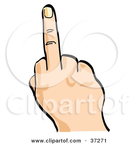 Flipping off clipart.