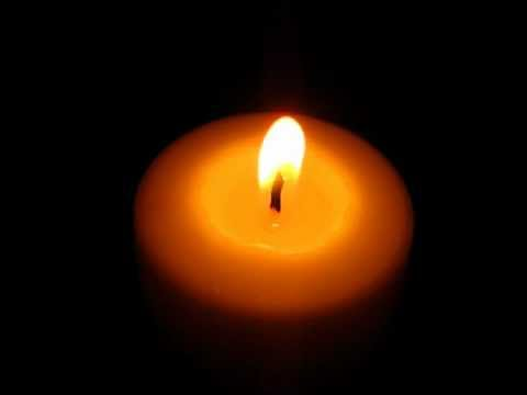 A Beautiful Burning candle.