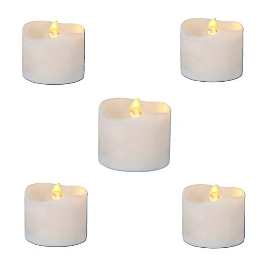 LED Candles Flickering Battery Operated Tea Lights LED Tea Lights Candles  Tea Candles Battery Tea Lights Pack of 12 Electric Fake Candle Warm White.